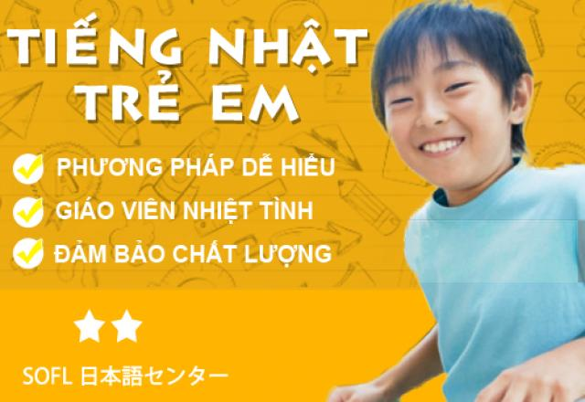 Khóa học tiếng Nhật trẻ em