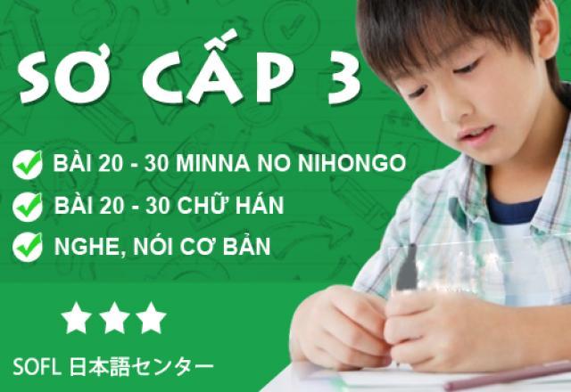 Khóa học tiếng Nhật sơ cấp 3