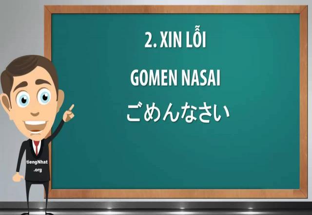 Xin lỗi trong tiếng Nhật
