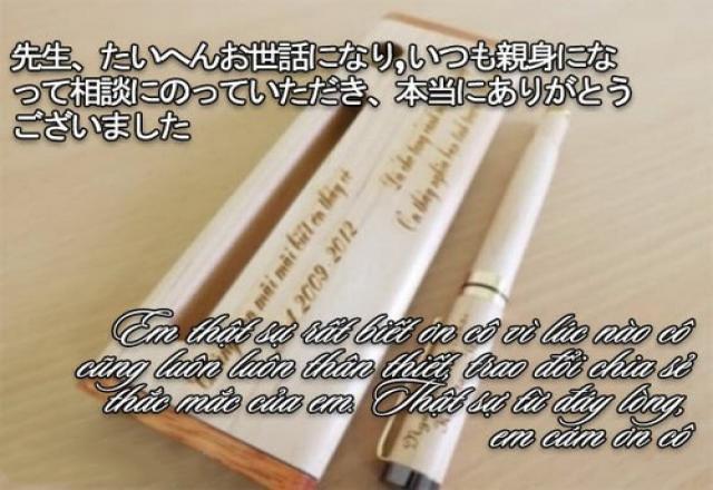 Cách viết thư cảm ơn thầy cô bằng tiếng Nhật