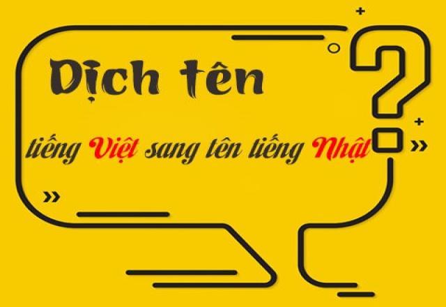 Cách dịch tên Việt sang tên Nhật theo chữ Kanji