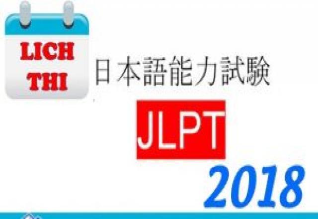 Cập nhật lại lịch thi tiếng Nhật J test, Nat - test, Top J, GNK năm 2018