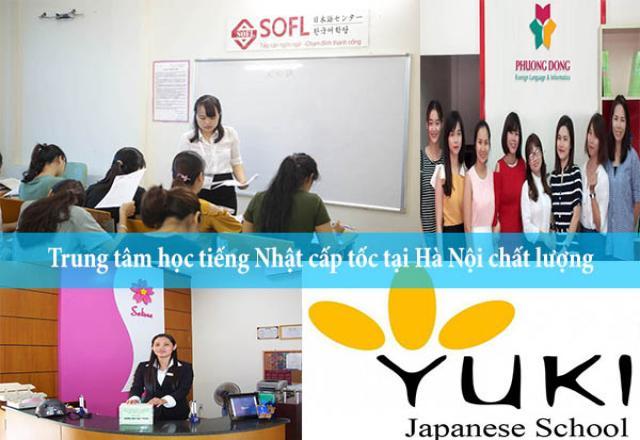 Trung tâm học tiếng Nhật cấp tốc tại Hà Nội chất lượng