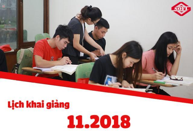 Lịch khai giảng khóa luyện thi JLPT N3 tháng 11/2018