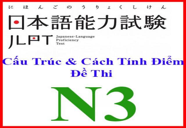 Cấu trúc đề thi năng lực tiếng Nhật N3