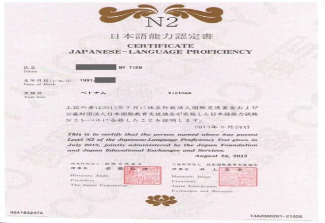 Các bước để đạt được bằng cấp tiếng Nhật N2 nhanh chóng tại SOFL