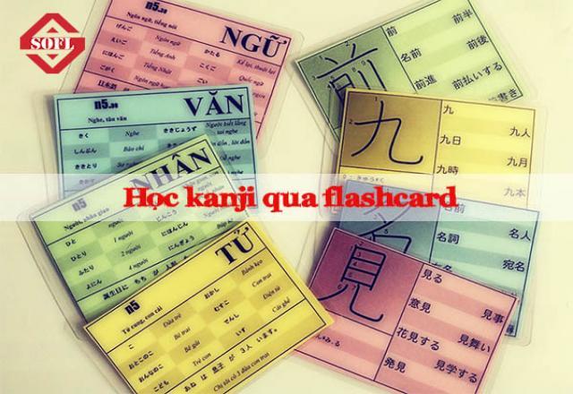 Học Kanji dễ dàng với phương pháp Flashcard