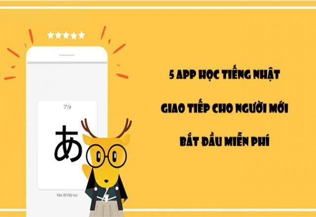 5 app học tiếng Nhật giao tiếp cho người mới bắt đầu miễn phí