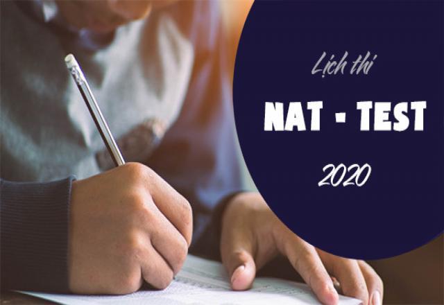 Cập nhật thông tin đầy đủ về kỳ thi Nat-Test 2020